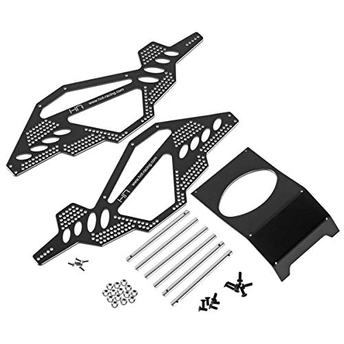 Aluminum Rock Racer Conversion Chassis, Black: Ax10 from Hot Racing