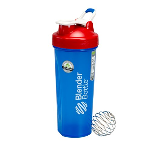 - BlenderBottle Full Color Bottle - All American Colors with Shaker Ball - Red, White, and Blue - 32oz