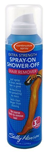 Sally Hansen Hair Remover Spray On-Shower Off 6oz X-Strength (3 - Hair Spray Remover