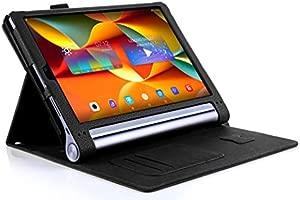 ISIN Funda para Tablet Serie Funda de Premium PU con Stand Función para Lenovo Yoga Tab 3 Pro X90 de 10,1 pulgadas Tablet con Velcro Correa para la ...