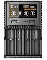 Nitecore Battery SUPERB CHARGER SC2 Battery Charger for AA, AAA, C, D and Lithium Batteries