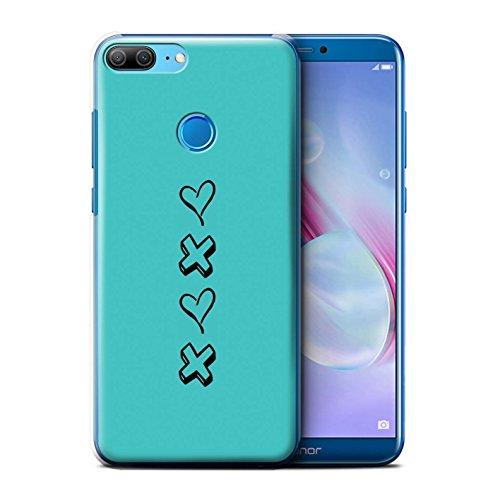 2018 Per amore Cuore Stampata amore Blu E Xoxo cover Huawei pro Y7 Custodia Scarpe prime Il cassa Rosa Disegno prottetiva Rigide Con Stuff4® Baci caso 7TqBwYf