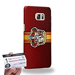 Case88 [Samsung Galaxy S6 Edge Plus] 3D Printed Snap-on Hard Case & Warranty Card - Harry Potter & Hogwarts Collections Hogwarts Gryffindor Sigil 0568