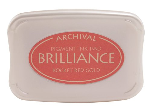 - Tsukineko Brilliance Full-Size Pad, Rocket Red Gold