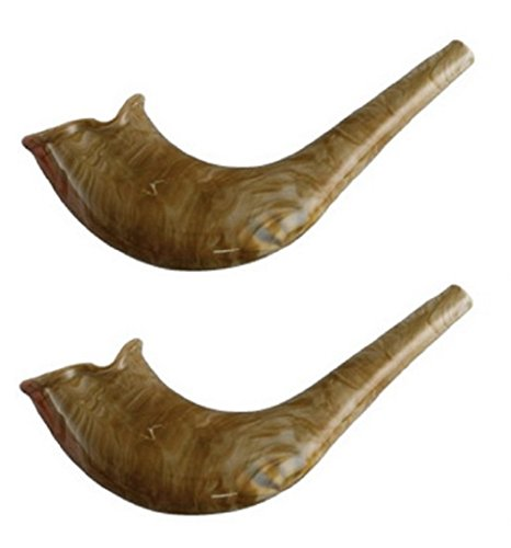 Toy Shofar With Whistle, Natural Look - 2 Pack