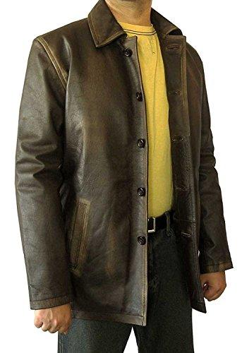 BlingSoul Super Brown Distressed Leather Jacket Coat - Supernatural (3XL)