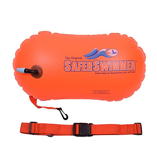 ISHOF SaferSwimmer PVC Safety Swimming Bouy Air Bag Only With Handle Orange (Air Bag Safety)