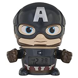 BulbBotz Avengers: Infinity War Night Light Marvel Captain America Alarm Clock