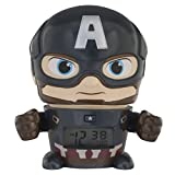 Bulb Botz Marvel 2021722 Avengers: Infinity War Captain America Kids Night Light Alarm Clock with Characterised Sound | Blue/Red | Plastic | 5.5 inches Tall | LCD Display | boy Girl | Official