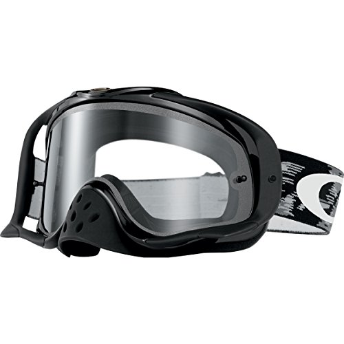 Oakley Crowbar MX Goggles (Jet Black Frame/Clear - Sunglasses On Deals Oakley