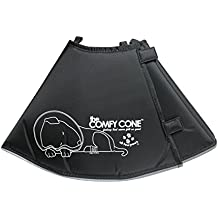 All Four Paws The Original Comfy Cone, Soft Pet Recovery Collar with Removable Stays