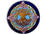 Celtic Tree of Life 10'' Diameter Blue/Purple Art Glass Stained Glass Piece