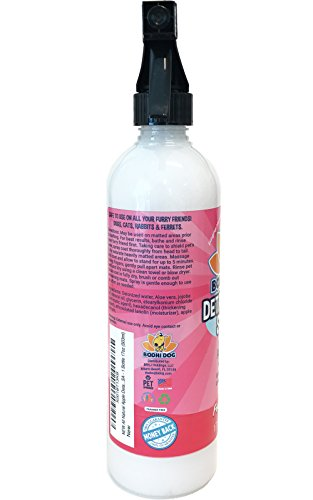 NEW All Natural Apple Detangling Spray | Remove Tangles while Dematting Dog and Cat Fur and Hair | Soothing Lotion with Conditioning Qualities - Made in USA - 1 Bottle 17oz (503ml) by Bodhi Dog (Image #4)