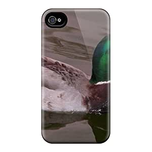 For Iphone 4/4s Tpu Phone Case Cover(duck)