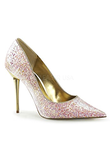 Pleaser , Damen Pumps Rose Gltr Pu