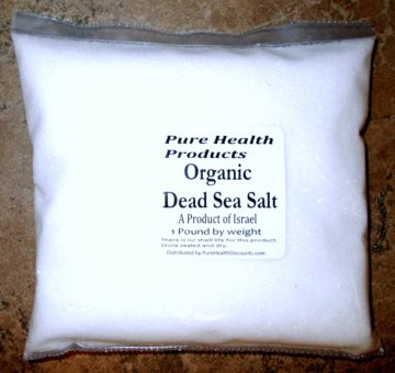 Dead Sea Salt Fine Grind Food Grade -2 FULL MINERAL PACKED POUNDS! - in two 1 lb packs. From Israel