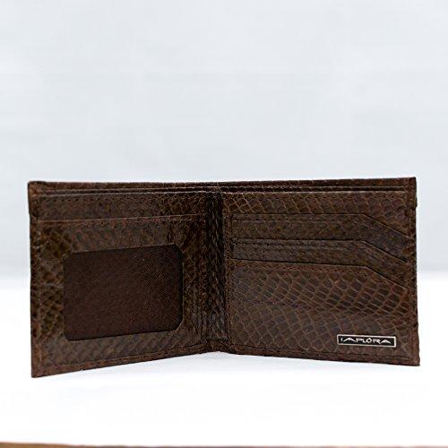 Implora Brown Leather Snakeskin Genuine Implora Genuine Cobra Wallet qpvZZC