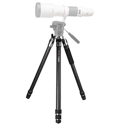 Carbon Fiber Professional Heavy Duty Tripod, KINGJOY K4207 Camera Tripod with 3-Section Adjustable Camera Tripod Legs Stand for Canon Nikon DSLR Camcorders(Grey) by KingJoy