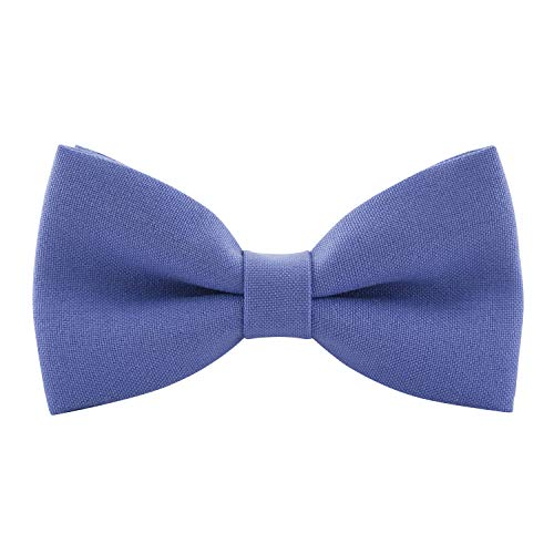 Giant Tie - Classic Pre-Tied Bow Tie Formal Solid Tuxedo, by Bow Tie House (Large, Ube Yam)