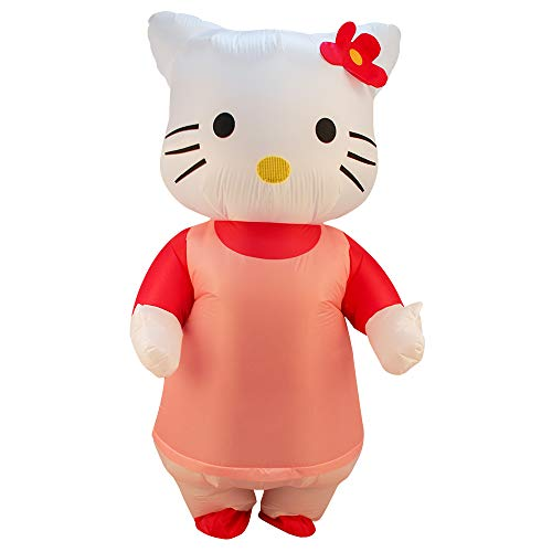 Adult Pink Kitty Inflatable Costume Cosplay Halloween (Pink #1) -