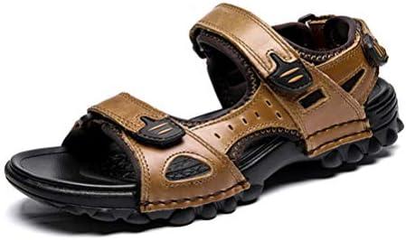 スポーツサンダル メンズ 牛革 サンダル 大きいサイズ サンダル ベルクロ ファッションサンダル 登山サンダル ビーチサンダル ブラウン ブラック 24.0cm-29.0cm