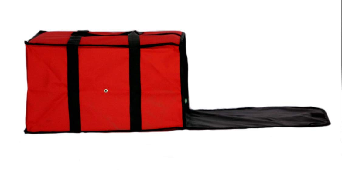 Nylon Insulated Pizza / Food Delivery Bag 20'' X 20'' X 12'' for Five 16'' Pizza Boxes