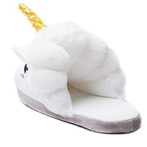 Pantofola Lunga In Peluche Donna Unicorno Per Adulto Taglia Unica Eu35-40