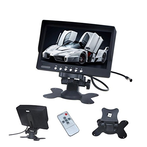 7 Inch TFT LCD Car Monitor Screen Rotatable NTSC/PAL Video System for Car Reversing Parking with IR remote control by Pupug (Image #4)