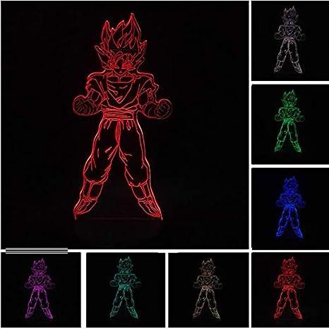 Klsoo Iluminación Nocturna Dragon Ball Z Super Saiyan God ...