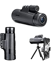 Monocular Telescope 4k 10-300x40mm, Monoculars for Adults High Powered with Smartphone Monoscope with Tripod and Holder, Waterproof