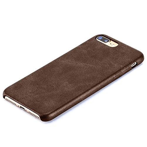 Vintage Handy Schutz Hülle für Apple Iphone 6 Plus aus Hochwertigem PU Leder / Retro Handy Tasche Back Cover Leather Case Bumper aus Kunst - Leder in Braun