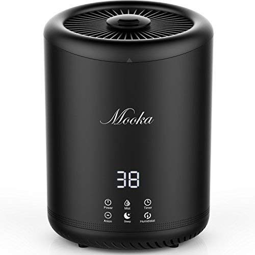 Mooka Top Fill Humidifier, 4L Large Capacity, Ultra Quiet Ultrasonic...