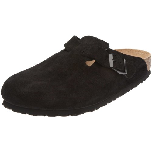 Birkenstock Womens Boston Cork Footbed Clog - Narrow Width Black 35 N EU bAF40