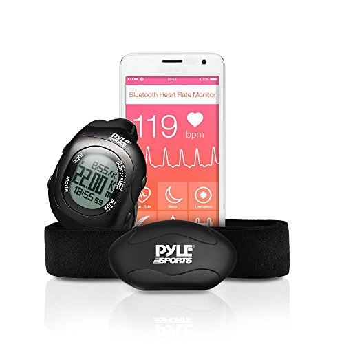 Upgraded Version Pyle Fitness Heart Rate Monitor with Digita