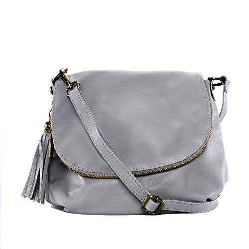 CUIR DESTOCK sac à main porté épaule et bandoulière cuir souple (pleine peau) modèle bacall (pt modèle) - nouvelle collection 2018 Gris Fonce