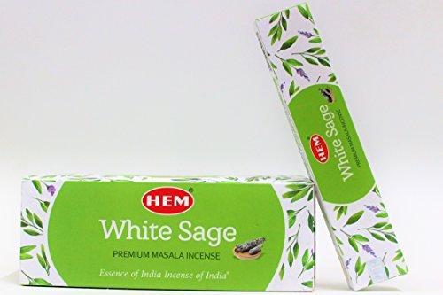 Hem White Sage Masala Incense Sticks, Pack of 12, Each 15 gms Best...