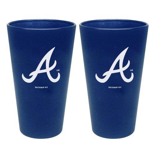 Atlanta Glass Braves - MLB Atlanta Braves 2 Pack Colored Frosted Pints