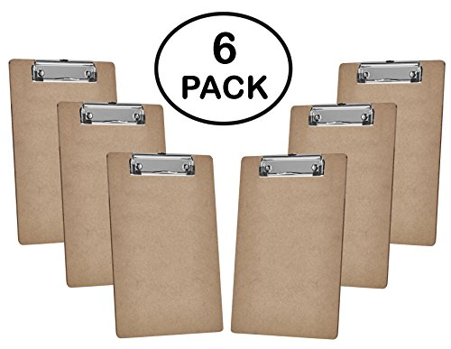 Acrimet Clipboard Memo 6 pack Hardboard