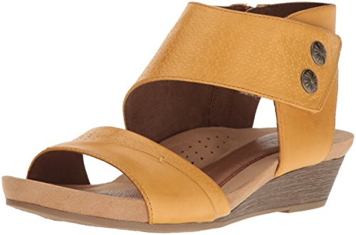 Cobb Hill Women's Hollywood 2 Piece Cuff Sandal, Amber Leather, 9 M US (Ankle Cuff Sandal)