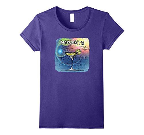 Womens Margarita Recipe T-Shirt Medium Purple