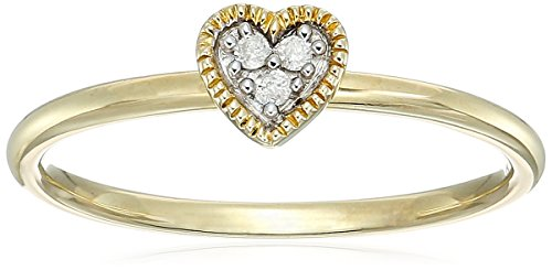 Yellow Diamond Accent Heart Stack