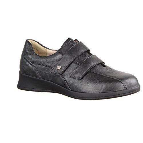 Finn Comfort Nairobi - Zapatos cómodos / relleno suelto Zapatos mujer Cómodo Bailarina / Mocasines, Negro, cuero (lujo)