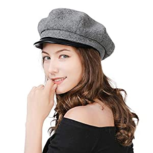 Comhats 2019 New Womens Visor Beret Newsboy Hat Cap for Ladies Merino Wool