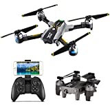Atoyscasa FPV Drone with 720P HD Wi-Fi Camera Quadcopter Drone for Kids & Beginners,Altitude Hold Headless Mode 3D Flips One Key Take Off/Landing Headless Mode 6 Axis Gyro,Grey For Sale