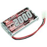 Toy XCell XC2000_96 X-Cell - Batería para vehiculos Racing-Pack con conector Tamiya, 2x líneas de entrada L4, 9,6V, 2000 mAh