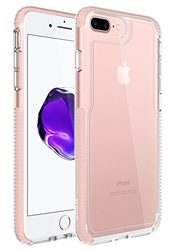 Iphone 7 Plus Case  Zuslab  Armor Pro  Military Grade Shock Proof Polyone Material With Tpu Bumper Cover Drop Protection Hd Pc Back Cover For Apple Iphone 7 Plus 2016  Rose Gold   Crystal