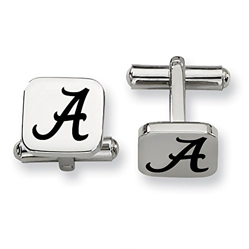 University of Alabama Crimson Tide Stainless Steel Square Cufflinks