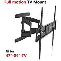 Fleximounts A21 extra wide Full motion Swivel Tilt and Rotate TV Wall Mount Bracket for Most 47-84 LED LCD and Plasma Flat Screens fit for Sony Bravia Samsung LG Vizio Sharp