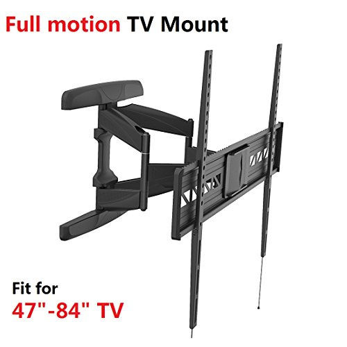 Fleximounts A21 47-84 inch Big TV Wall Mount Bracket Full motion Swivel Tilt Flat Screens, up to 90 inch