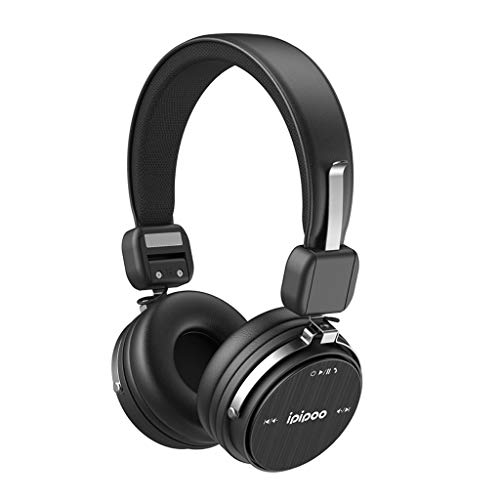 Bluetooth Headphones Over-Ear,Active Noise Cancelling Earphone Wireles Bluetooth Foldable Headset Surround Sound Stereo Earpiece with Microphone 18Hrs Playtime for Business Driving Sports (Black)